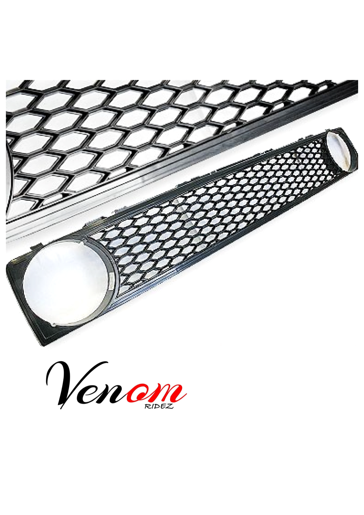 vw golf mk1   honeycomb front grille  badgeless  single hole